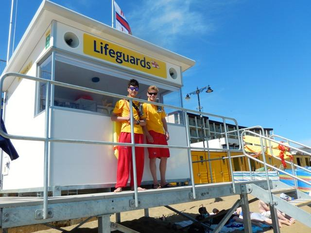 First day of the new lifeguard service  (Kit (L), Will (R)) - 4 July