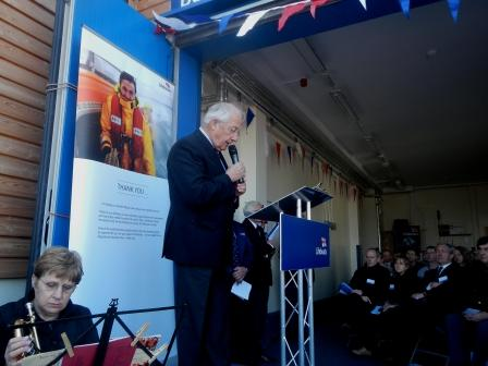 """The Lord Lieutenant saying a few words before """"opening"""" the boathouse"""