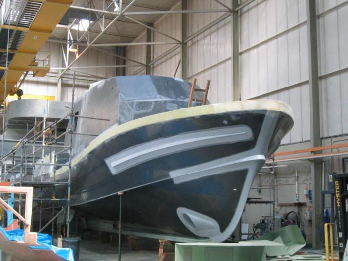 New Tamar Class Lifeboat Under Construction