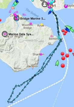 Track of the AAW on 10th Oct 17