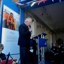 "The Lord Lieutenant saying a few words before ""opening"" the boathouse"