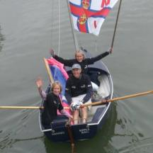 Scow on the Thames