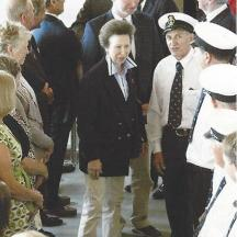 Princess Royal being introduced to the crew