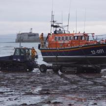 The Mersey Lifeboat on Carriage